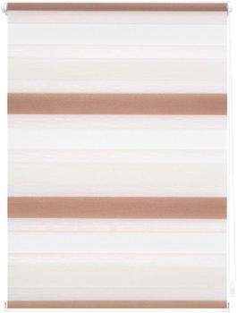 Lichtblick Duo-Rollo Klemmfix 45 x 150 cm creme weiß braun