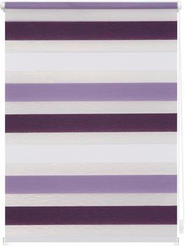 Lichtblick Duo-Rollo Klemmfix 45 x 150 cm violett weiß