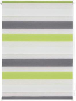 Lichtblick Duo-Rollo Klemmfix 45 x 150 cm grün grau anthrazit