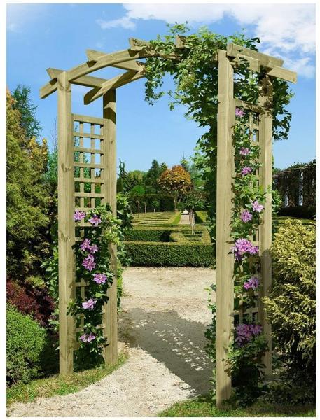 Gartenpirat Eingangspergola aus Holz 220 x 160 x 62 cm