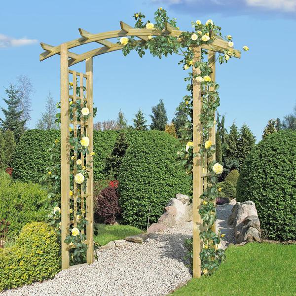 Gartenpirat Rosenbogen aus Holz 160 x 72 x 210 cm