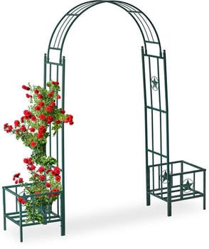 Relaxdays Rose Arch with Pot Holders (10026263)
