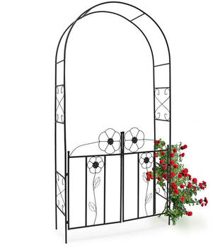 Relaxdays Rose Bow with Powder Coated Iron Gate (228 x 116 x 36,5 cm)