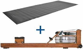 Sport-Tec WaterRower Rudergerät Kirsche, inkl. S4 Monitor und Bodenschutzmatte