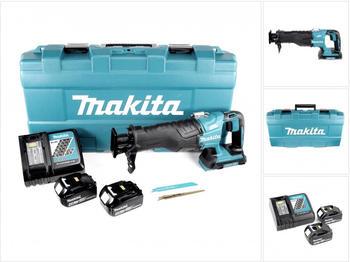 Makita DJR 360 RMK Reciprosäge Säbelsäge im Koffer 2x 18 V mit 2x BL 1840 4,0 Ah Akku und Ladegerät