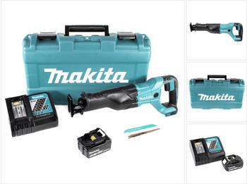 Makita DJR 186 RM1K 18 V Li-Ion Akku Säbelsäge Reciprosäge im Transportkoffer - mit 1x BL 1840 4,0