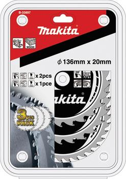 Makita TCT Kreissägeblatt Mak-Force 190 x 30 mm Holz-Sägeblatt 12 Zähne B-32144