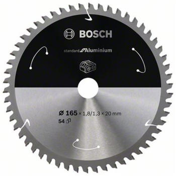 Bosch Standard for Aluminium für Akkusägen 165x1.8/1.3x20, 54 Zähne