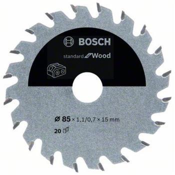 Bosch Standard for Wood für Akkusägen 85 x 1,1/0,7 x 15 20 Zähne