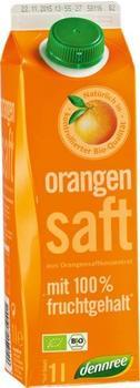 Dennree Orangensaft mit 100% Fruchtgehalt 1l