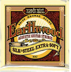 ERNIE BALL Earthwood Silk & Steel Extra Soft .010 - .050 Acoustic 80/20 Bronze