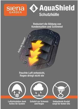 Siena Garden AquaShield Sitzgruppenhülle 160x150xH85cm hellgrau, 100% Polyester