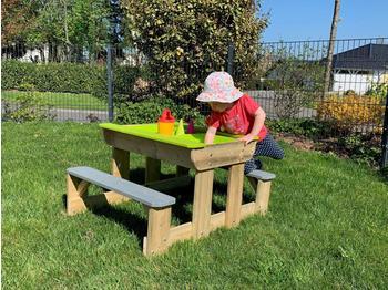 WendiToys Sand & Wassertisch mit 2 Bänken,mehrfarbig,