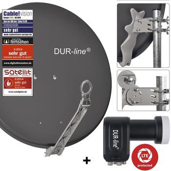 DUR-Line Dur-line Select 75 G + Ultra Quad - 4 Teilnehmer Set, anthrazit (12361)