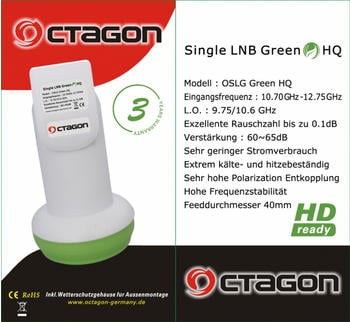 Octagon OFFLG Flex-Feed LNB 0.1dB