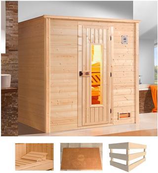 Weka Bergen 1 (ohne Ofen, Holztür mit Glaseinsatz)