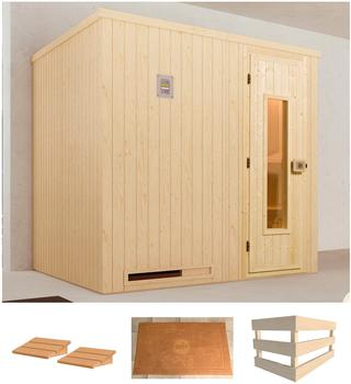 sauna holz mit glaseinsatz test. Black Bedroom Furniture Sets. Home Design Ideas