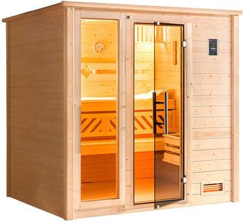 Weka Bergen 2 (ohne Ofen, Premium Glastür mit Fensterfront)