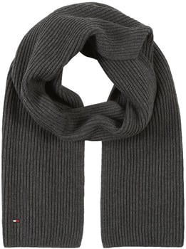 tommy-hilfiger-cotton-cashmere-scarf-dark-grey-melange