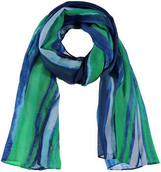 Samoon Schal im Streifen-Design Damen space blue (14-400015-23023-8202-99)
