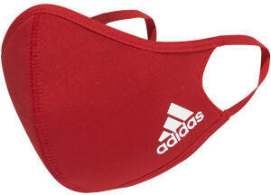 Adidas 3-Pack Face Cover Unisex M/L power red