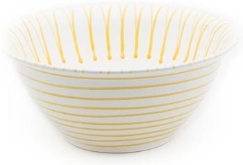Gmundner Salatschüssel 33 cm gelbgeflammt