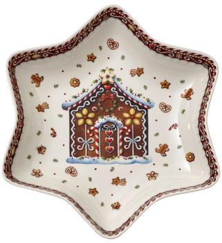 Villeroy & Boch Winter Bakery Delight Sternschale mittel Lebkuchenhaus 24,5cm