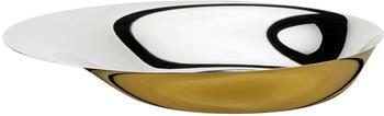 stelton-norman-foster-servierschale-36-cm-edelstahl-teilweise-golden-beschichtet