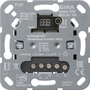 Gira Dimmeinsatz S3000 2-fach (540200)