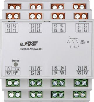 HomeMatic RS485 I/O-Modul, 12 Eingänge, 7 Ausgänge, Hutschienenmontage (HMW-IO-12-Sw7-DR)