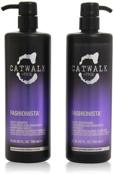 Tigi Catwalk Fashionista Violet 750 ml + Conditioner 750 ml Geschenkset