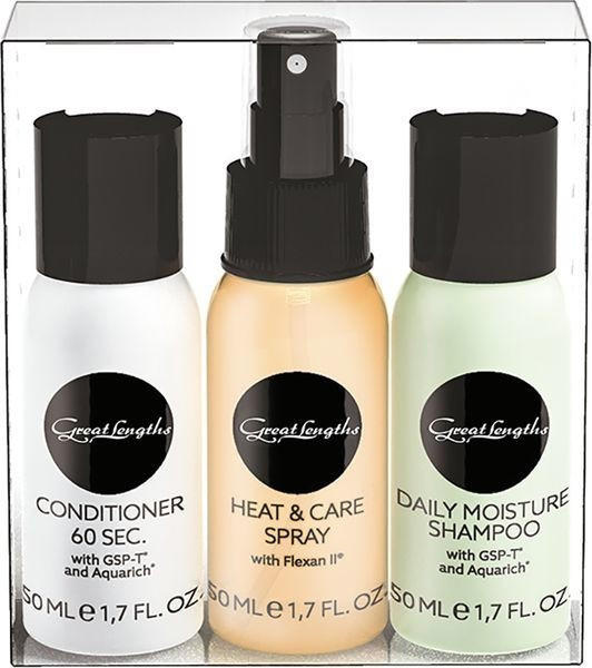 Great Lengths Travelset (Shampoo, Conditioner + Care Spray (3 x 50 ml)