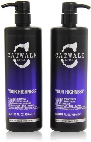 Tigi Catwalk Your Highness 750 ml + Conditioner 750 ml Geschenkset