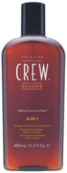 American Crew Classic 3 in 1 Shampoo, Body Wash und Conditioner (450 ml)