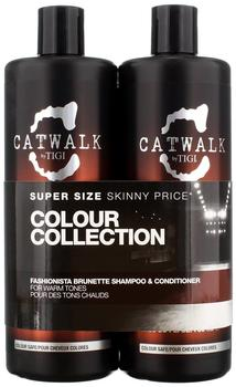 Tigi Catwalk Fashionista Brunette 750 ml + Conditioner 750 ml Geschenkset