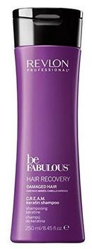 Revlon Professional Brands Be Fabulous Hair Recovery Damaged Hair Cream Keratin Shampoo (250ml)