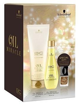 Schwarzkopf BC Oil Miracle 200 ml + Light Finishing Treatment 100 ml + Alessandro Nagellack 5 ml Geschenkset