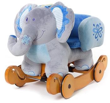 Labebe - Kinder Plüsch Schaukelpferd - Elefant mit Rädern