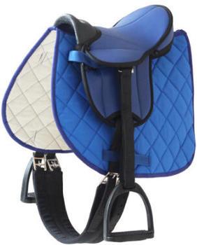 Helga Kreft Sattelset für Gartenpferde blau