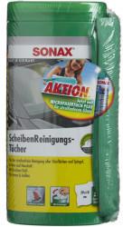 Sonax 04120410 ScheibenReinigungsTücher Box mit MicrofaserTuch 75 ml