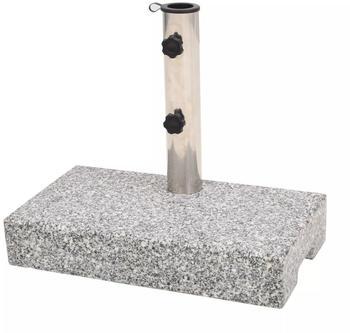 vidaXL Sonnenschirmständer Granit 25kg grau (43725)