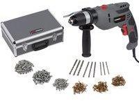 VARO Powerplus Schlagbohrmaschine Set mit Koffer und 259 Teilen Zubehör 729 W