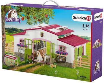 Schleich Reiterhof mit Reiterin und Pferden (42344)