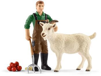 Schleich Bauer mit Ziege (42375)