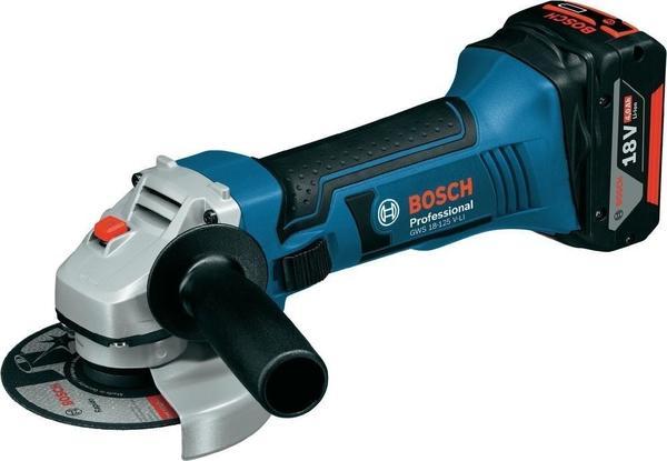 Bosch GWS 18-125 V-LI Professional (2 x 4,0 Ah in L-Boxx)