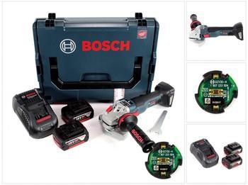 Bosch GWS 18 V-125 SC Professional (2 x 6,0 Ah + GCY 30-4 Connectivity Modul)