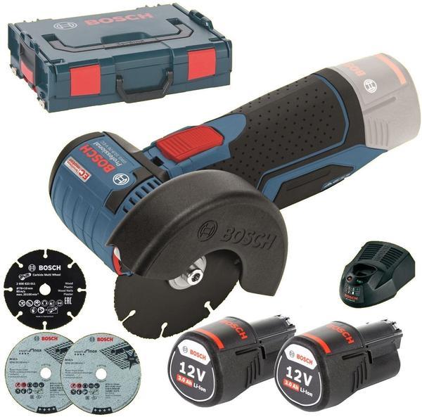 Bosch GWS 12V-76 Professional (2 x 3,0 Ah + L-Boxx)