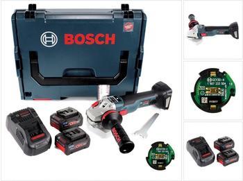 Bosch GWS 18 V-125 SC Professional (2 x 7,0 Ah + GCY 30-4 Connectivity Modul)