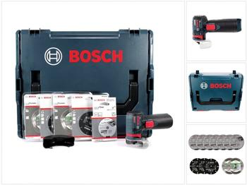 Bosch GWS 12V-76 V-EC (L-Boxx + Trennscheiben- Set)