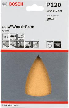 Bosch C470 Best for Wood and Paint - K120 100 x 150 - 10er Pack (2608608Z96)